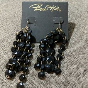 Pretty Birch Hill black bead Earrings